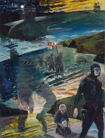 Euan MacLeod 'Father of the first Phantom' 2000-2014 oil on canvas 180.0cm x 130.0cm Courtesy the artist Dietmar Lederwasch collection