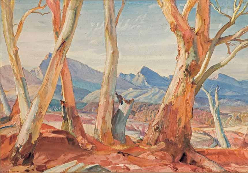 Hans HEYSEN 'Aroona' 1939 watercolour on paper, 42.2 x 62.0 cm Private collection