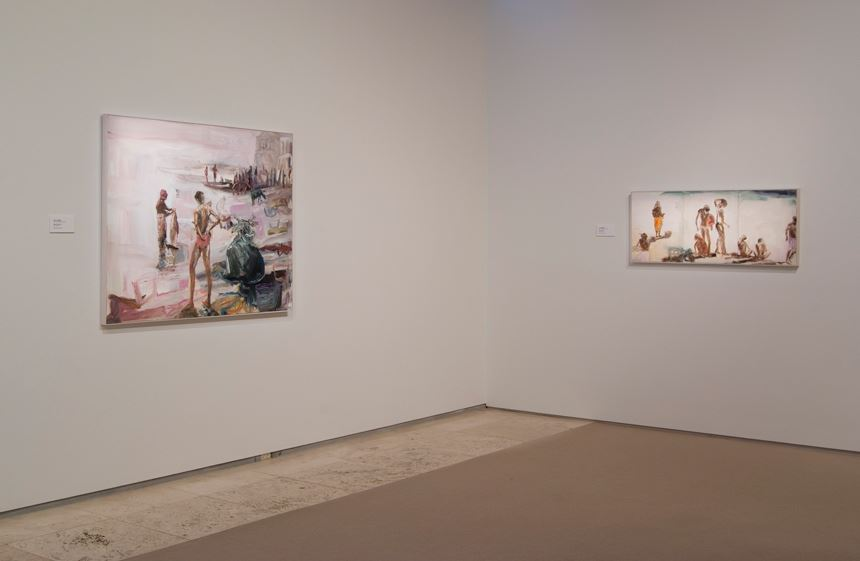 VARANASI: Recent paintings of India by Jane Lander, installation view