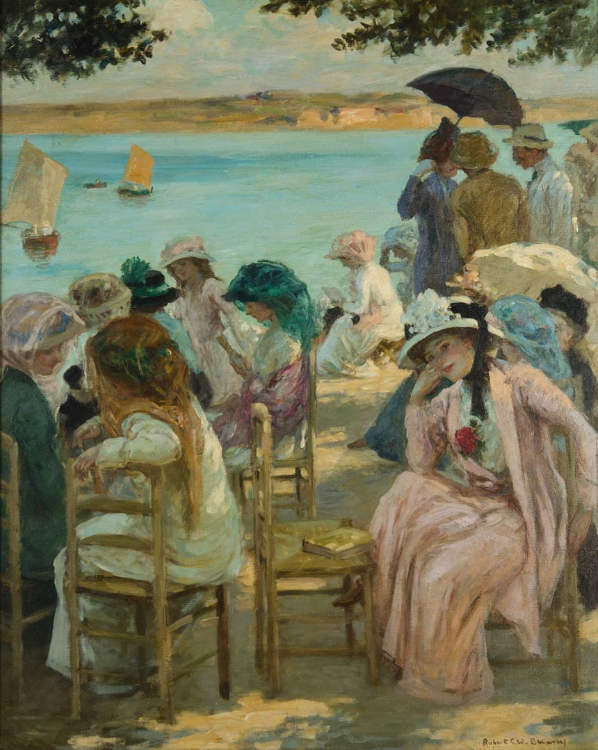 Rupert BUNNY Last fine days, Royan c1908 oil on canvas 79.5 x 63.5cm Gift of the Art Gallery and Conservatorium Committee 1962 Newcastle Art Gallery collection
