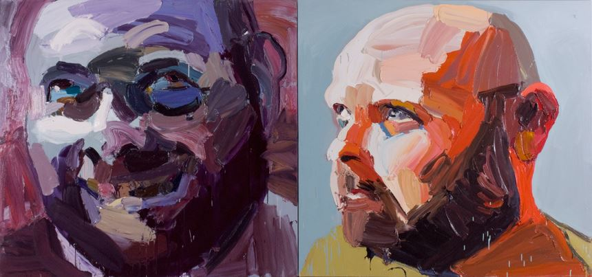 Ben Quilty Cullen 'before and after' 2006 oil on canvas diptych 160.0 x 170.2 cm Gift of Margaret Olley 2007 Newcastle Art Gallery collection
