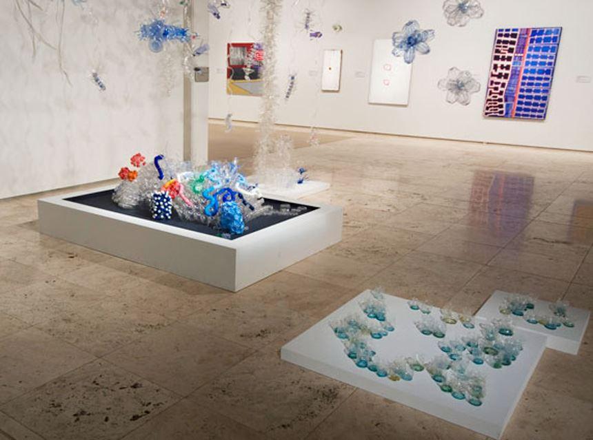 Jane Gillings and Amanda McDonald 'Watermark' 2009 recycled plastic water bottles
