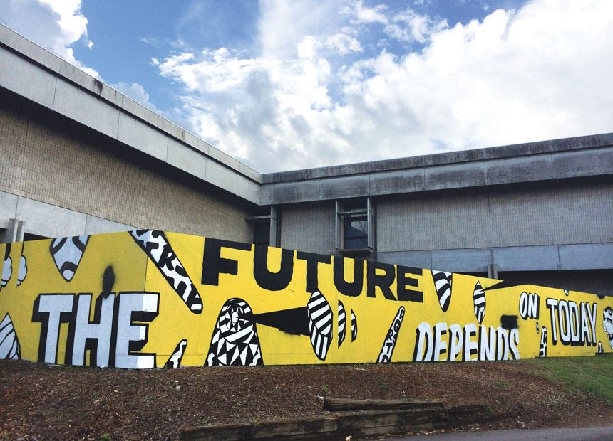 Numskull 'The future depends on today' 2013  temporary installation at Newcastle Art Gallery