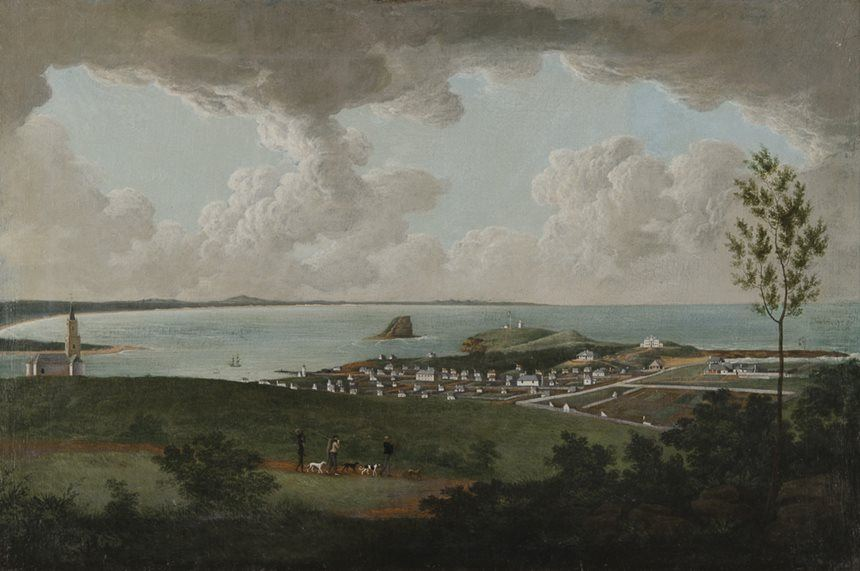 Joseph LYCETT <i>Inner view of Newcastle</i> c1818 oil on canvas 59.6 x 90.0cm Purchased with assistance from the National Art Collections Fund, London UK 1961 Newcastle Art Gallery collection