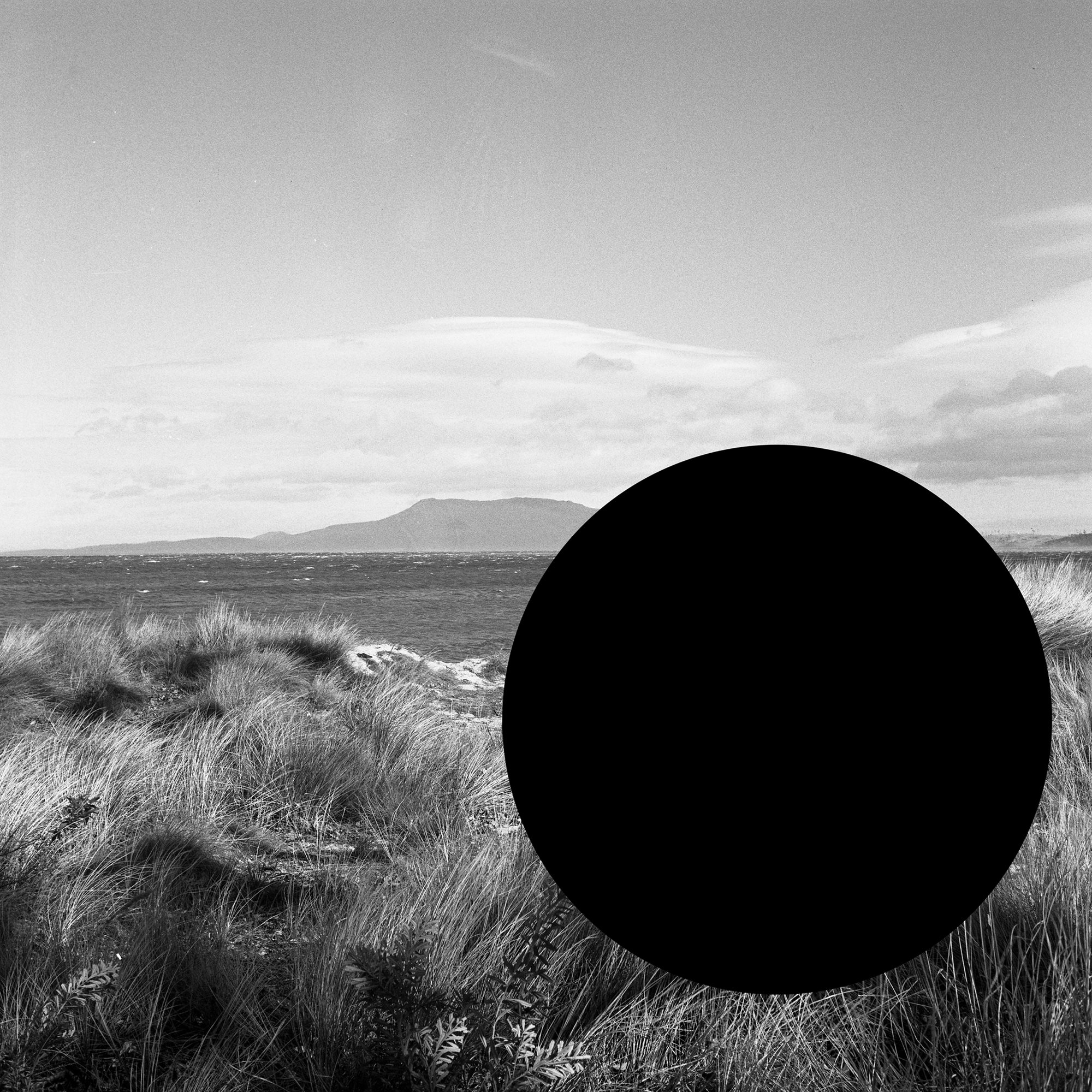 James Tylor, (Deleted Scenes) From an Untouched Landscape #7 Knocklofty Reserve, West Hobart, Palawa Land, 2013, Inkjet print on hahnemühle paper with hole removed to a black velvet void, 63 x 63 cm framed. Courtesy the artist and UTS Art Collection