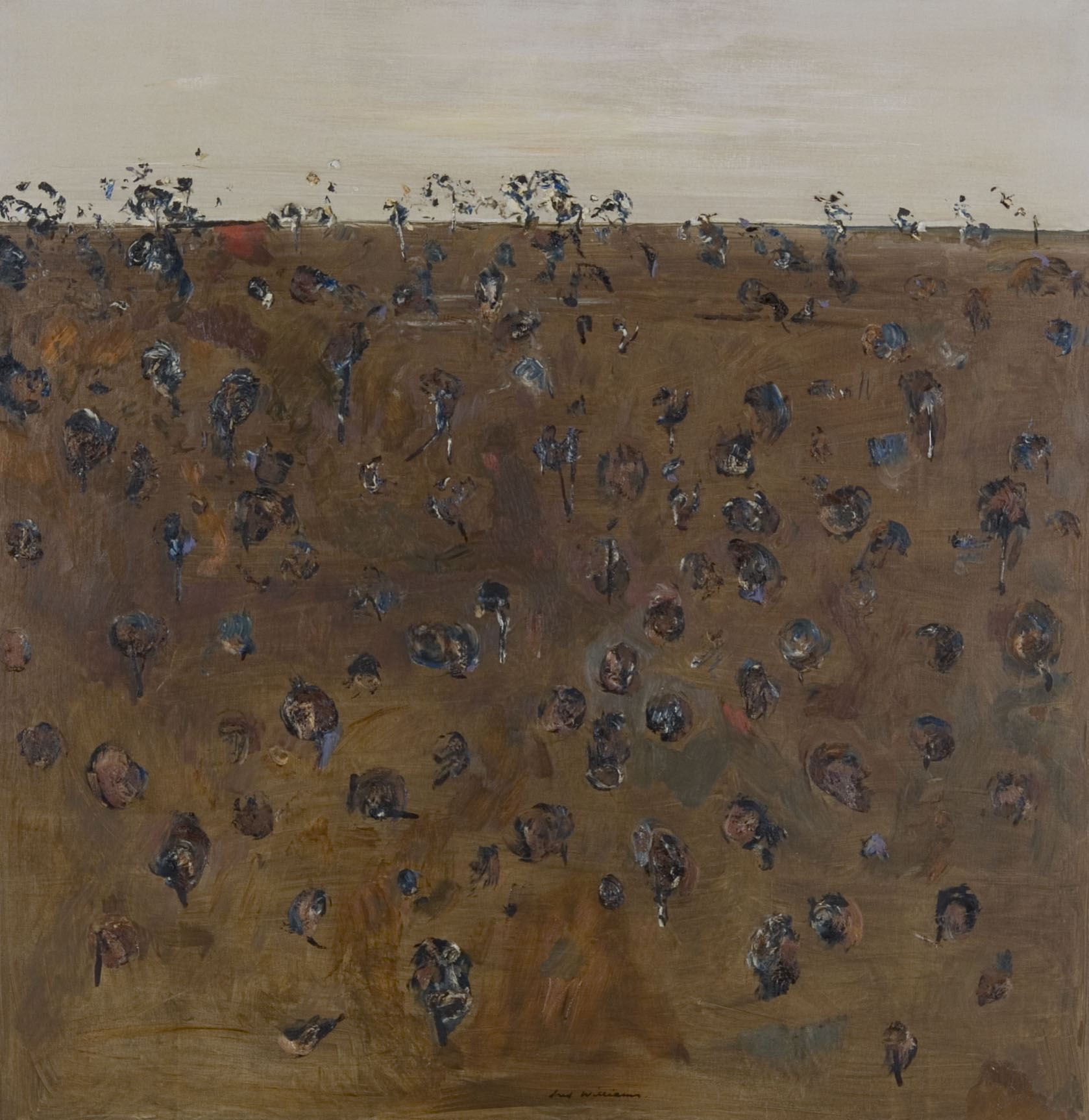 Image: Fred WILLIAMS Landscape in Upwey 1965-66 oil on canvas 136.7 x 134.0cm Purchased 1966 Newcastle Art Gallery collection © Newcastle Art Gallery