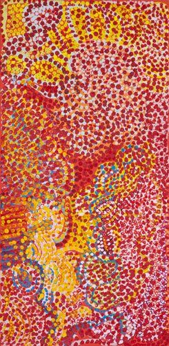 Carol Maayatja Golding Makurra Pirti 2008 acrylic on canvas Gift of Kean Ooi through the Australian Government's Cultural Gift Program 2013 Newcastle Art Gallery collection