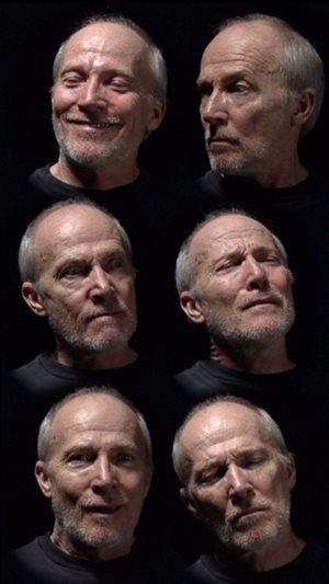 Bill Viola 'Six heads' 2000 video, 16:9 ratio, colour, silent, 20 min; plasma screen, 102.1 x 61 x 8.9cm Art Gallery of New South Wales Gift of the John Kaldor Family Collection 2011 Donated through the Australian Government's Cultural Gifts Program Photo courtesy of AGNSW